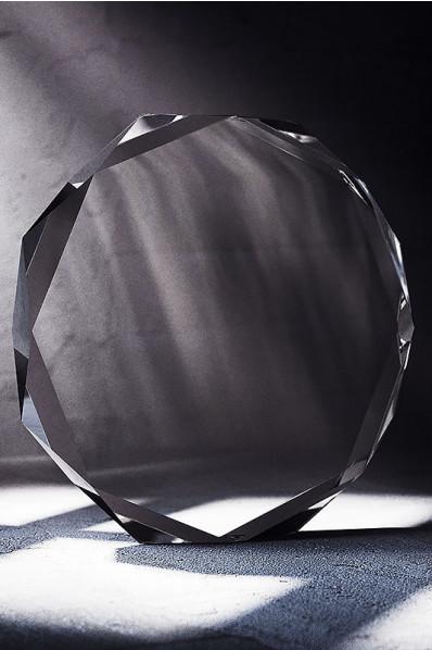 Spacial Circular Crystal Plaque