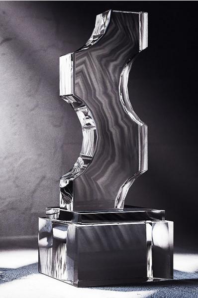 Irregular Shaped Crystal Block Statuette