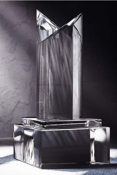 Truncated Inverted Crystal Statuette