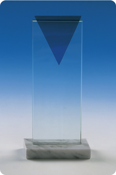 Glass Triangle Rectangular Plaque