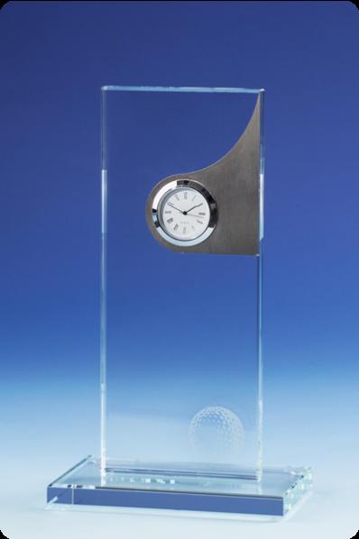 Decorative Glass Clock Plaque