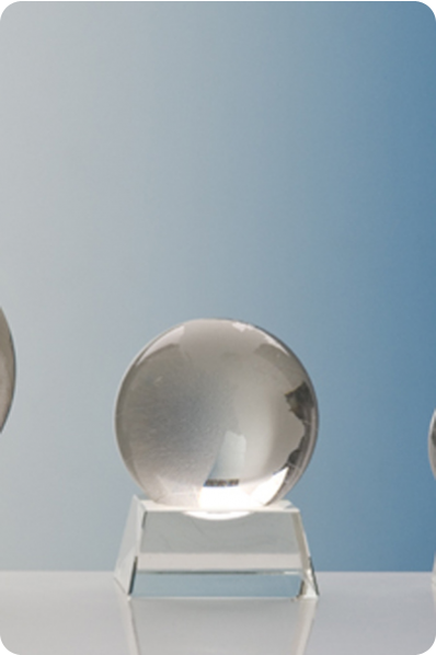 Glass Sphere Statuette