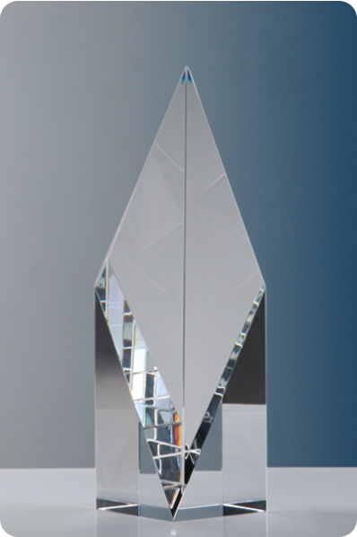Symmetrical Glass Cube Spire