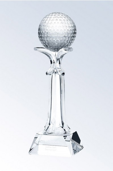 Crystal Glass or Ball Trophy