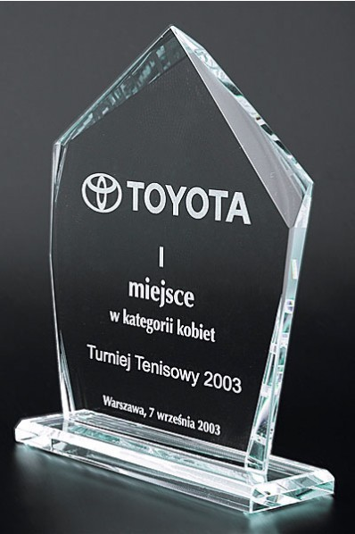 The Plaque Crystal Statuette