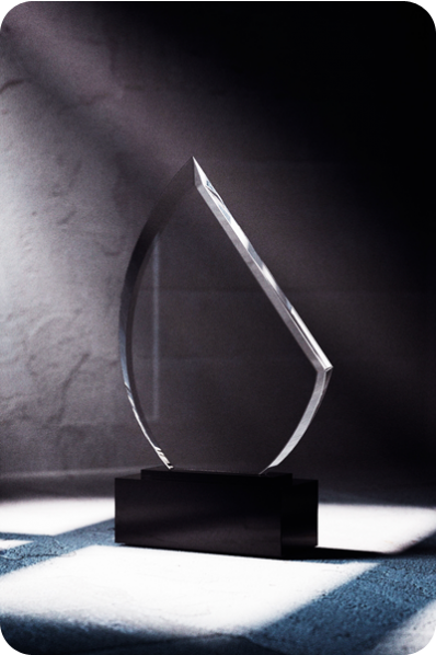 Oblique Crystal Plaque
