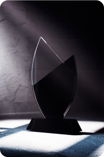 "Glass ""Leaf"" Shaped Statuette/Plaque"