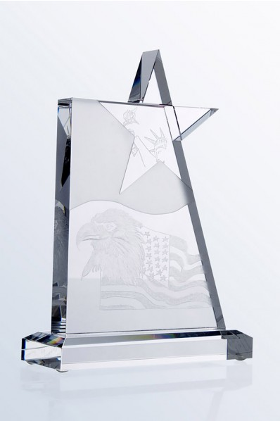 Square Star Crystal Plaque