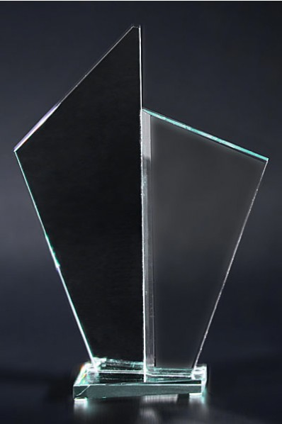 Twin Crystal Award Plaque
