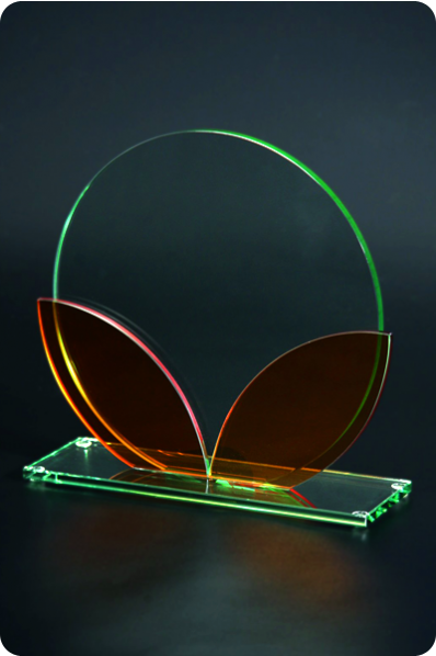 Colored Glass Glass Circular Plaque