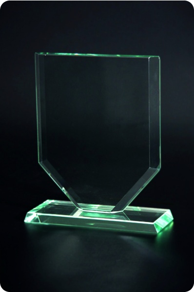 Tapered Glass Plaque