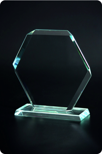 Hexagon Crystal Plaque