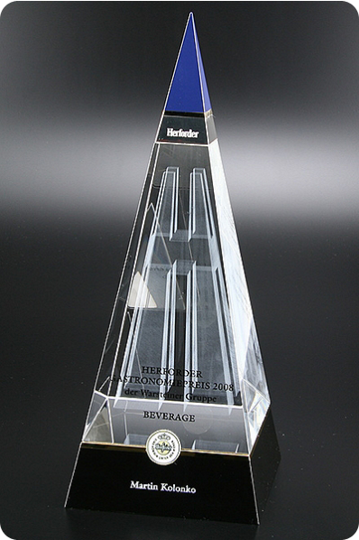 Three Piece Glass Pyramid
