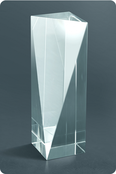 Trunc Crystal Vertical Cube