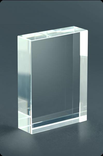Crystal Block Plaque