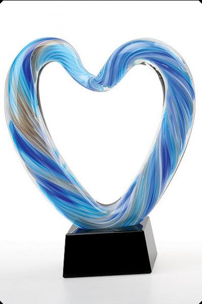 Glass Heart Award Statuette 2