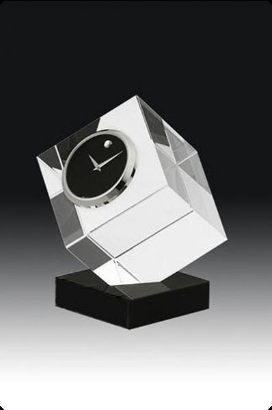 Cut Crystal Cube Clock