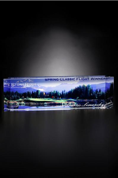 Promotional glass award