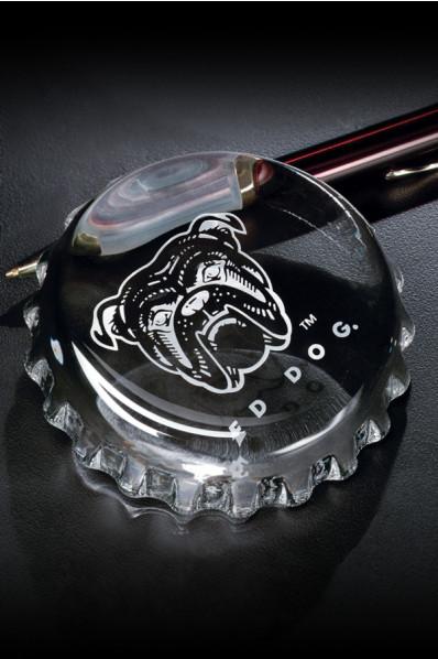Glass paperweight cap