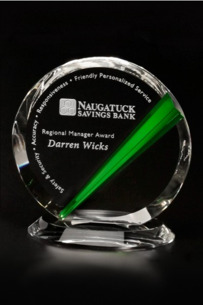 Circulas glass award with color