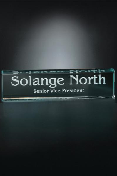 Glass name plate