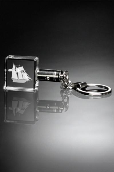 Glass keychain