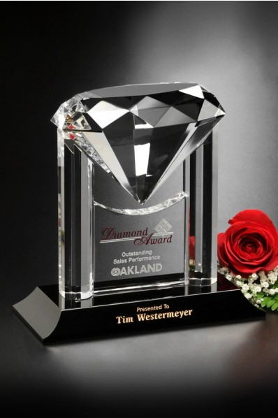 Crystal diamond award