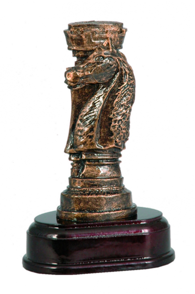 Chess Knight & Rook Resin Award