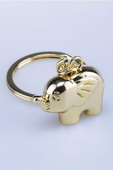 Golden Elephant Keychain