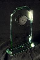 The Clock Glass Statuette