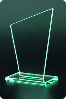 The Sail glass statuette