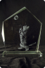 Glass Statuette Plaque
