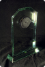 The Clock Glass Statuette