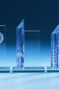 Blue Column Glass Plaque