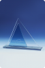 Triangle Pyramid Glass Plaque