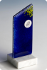 Fused Frosted Blue Glass Statuette