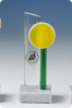 Yellow & Green Glass Statuette