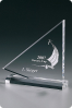 Boat Crystal Plaque Statuette