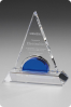 Boat Shape Crystal Statuette Plaque