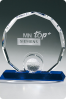 Round Sports Crystal Statuette