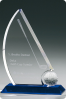 Sail Shape Crystal Statuette