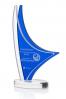 Elegant Blue Clear Statuette