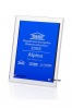 Blue Clear Rectangular Plaque