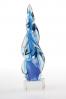 Blue Swirl Trophy Statuette