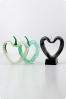 Color Heart Glass Trophies