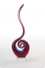 Abstract Red Glass Swirl Award