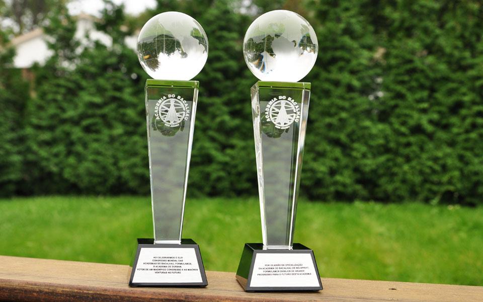 Tall Elegant Crystal Trophy