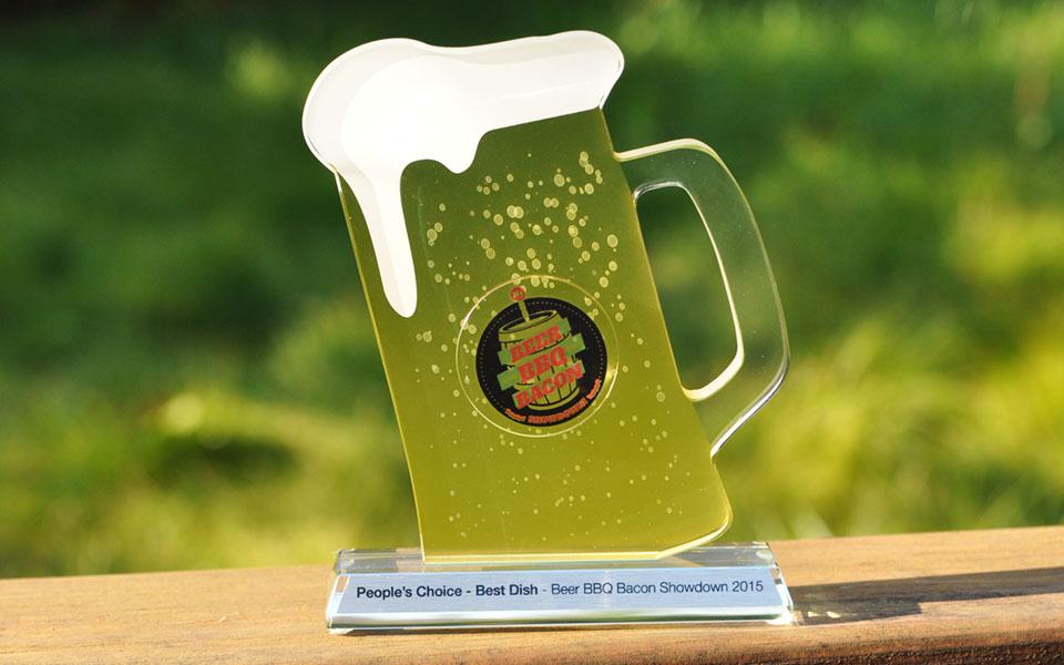 Custom Glass Beer Award