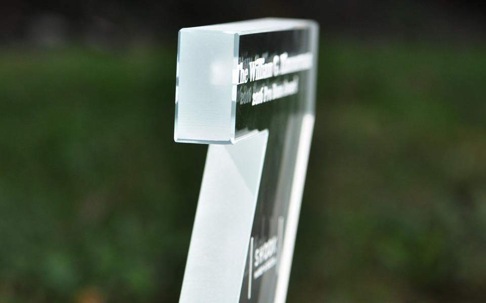 Custom Cut Glass Letter
