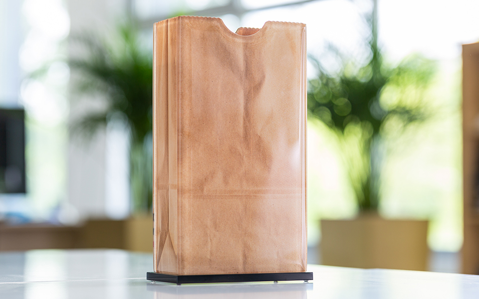 Custom Glass Paper Bag Award